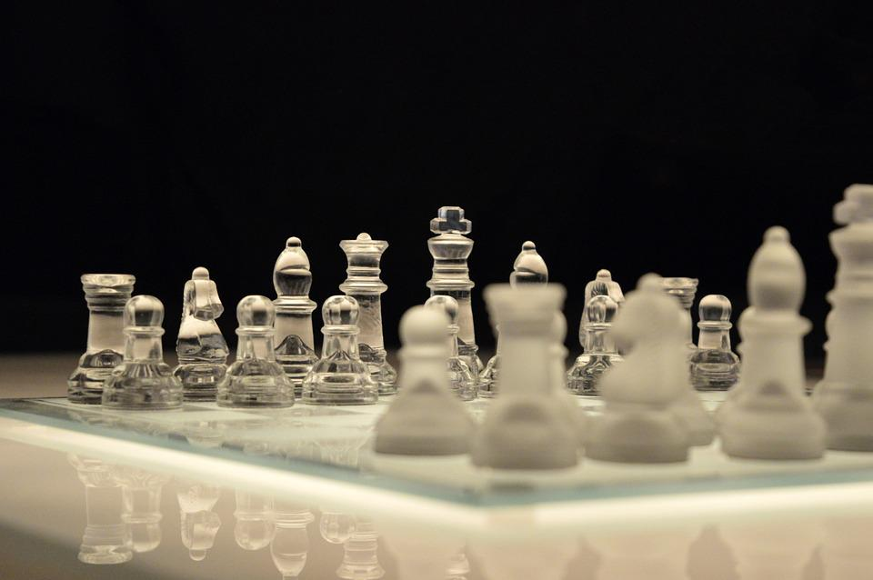 Chess, Game, Chessboard, Glass, Board, Planning