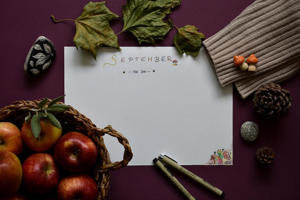 September, Planning, To-do, List, Autumn, Organizer