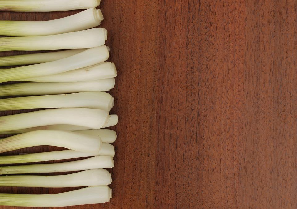 Onions, Herbs, Plant, On A Wooden Background