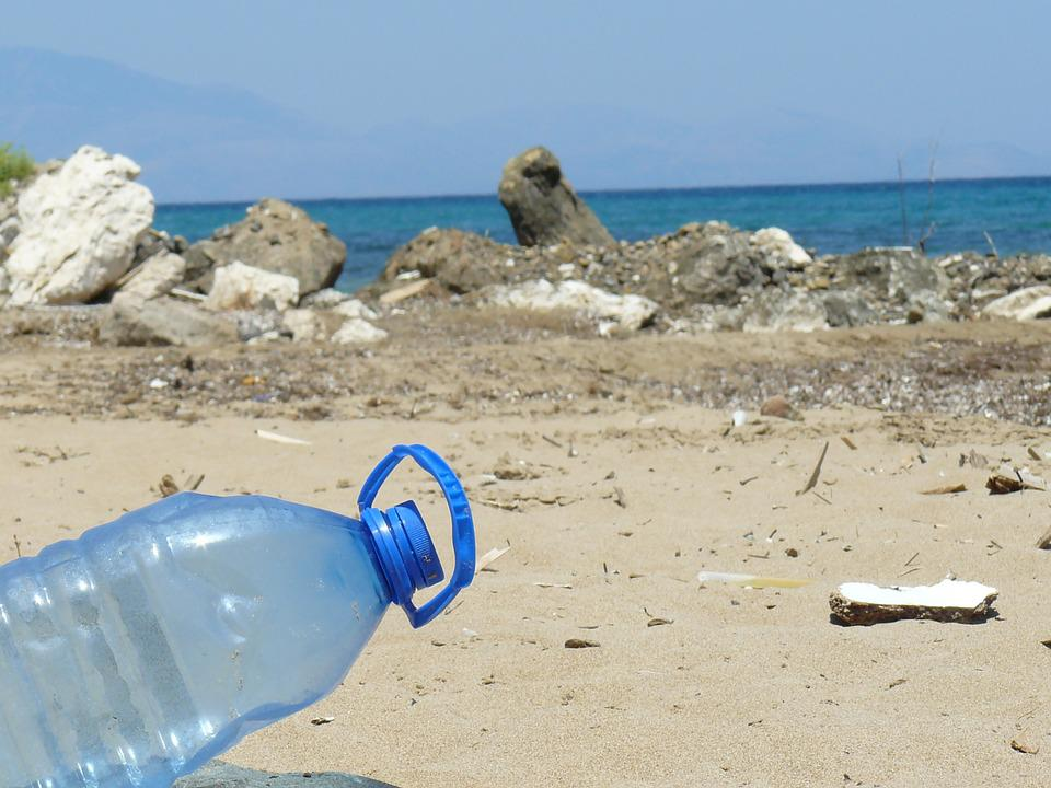 Plastic Bottle, Bottle, Beach, Sea, Pollution, Plastic