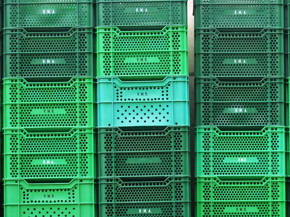 Boxes, Green, Background, Texture, Plastic