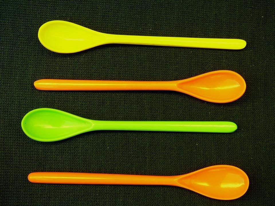 Spoons, Plastic, Colors