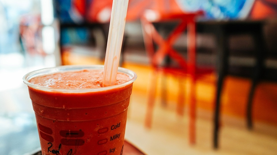 Drink, Plastic Cup, Straw, Shake, Smoothies, Chair