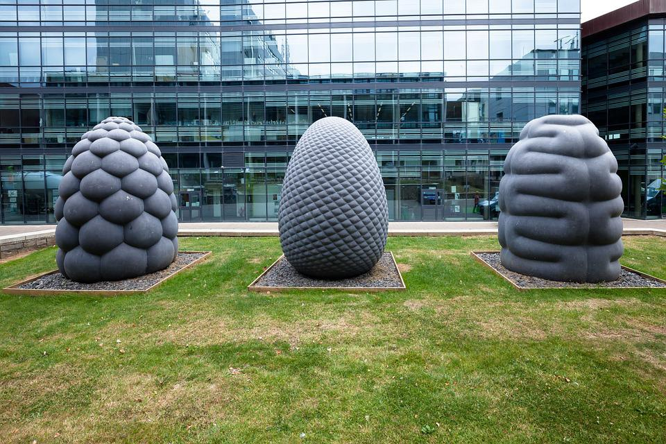 Sculpture, Plastic, Art, Fruits, Form, Stone, Steinmetz