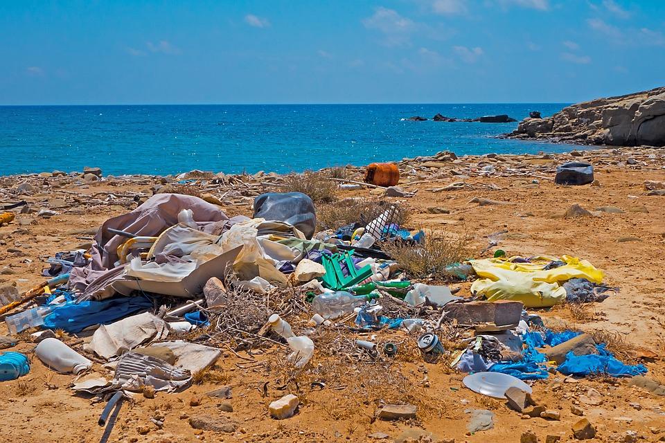 Garbage, Plastic Waste, Beach, Environmental Sin