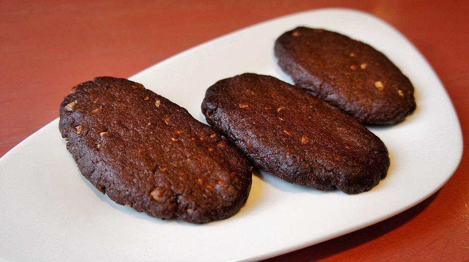 Cookies, Confectionery, Chocolate Cookies, Plate