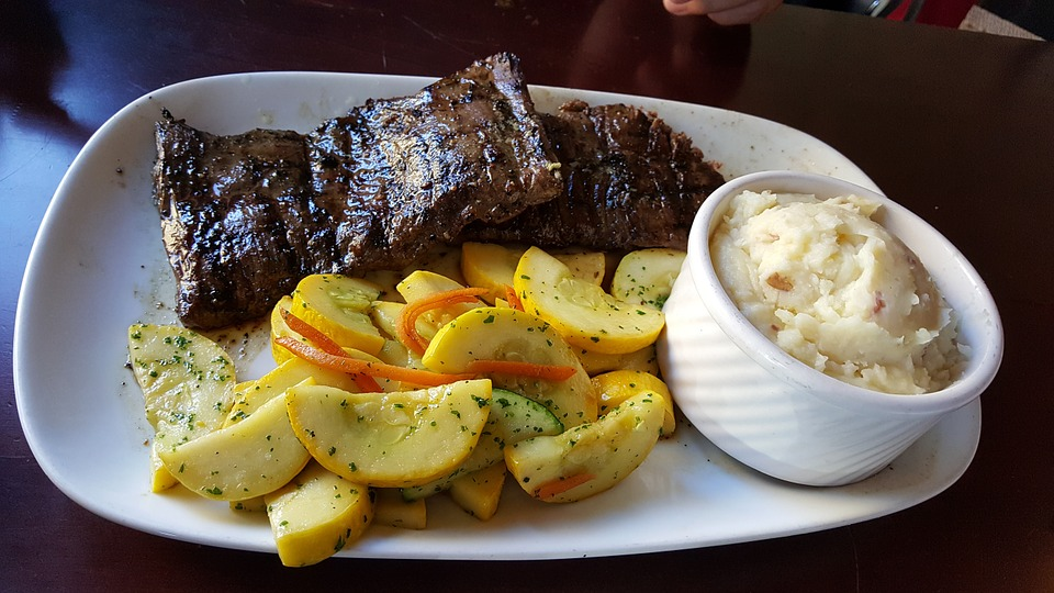 Food, Meat, Plate