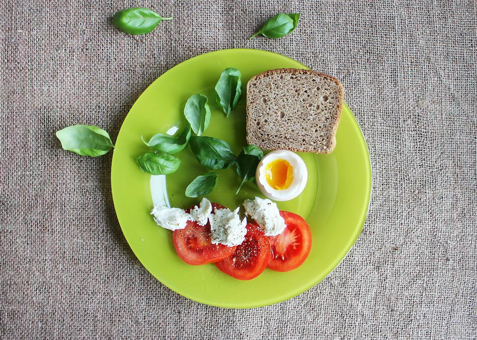 Tomatoes, Eggs, Dish, Green, Plate, Food, Healthy