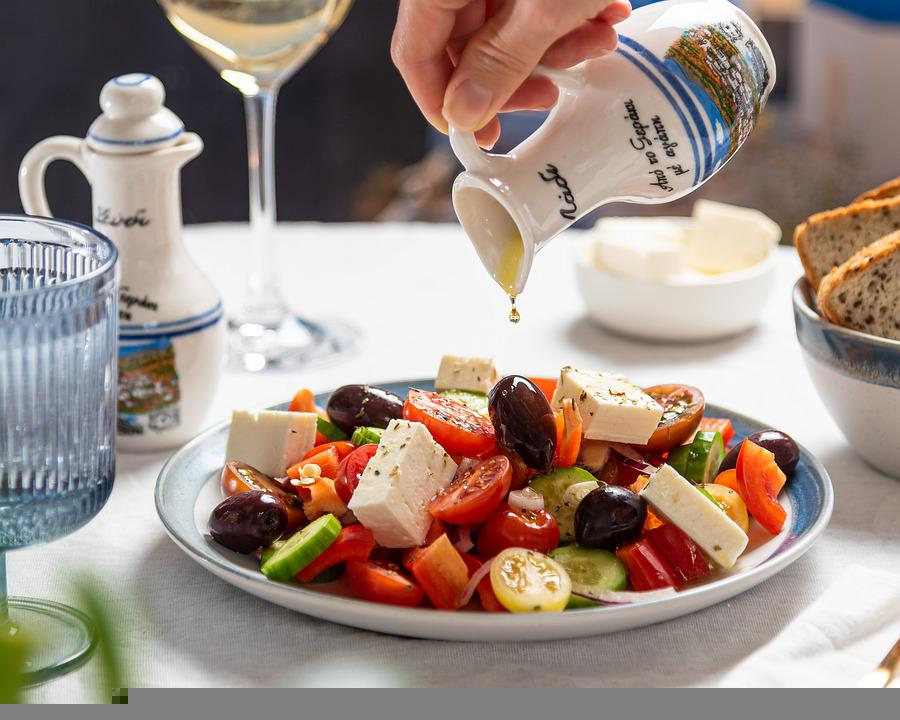 Salad, Greek Salad, Feta, Food, Plate, Tomato, Healthy