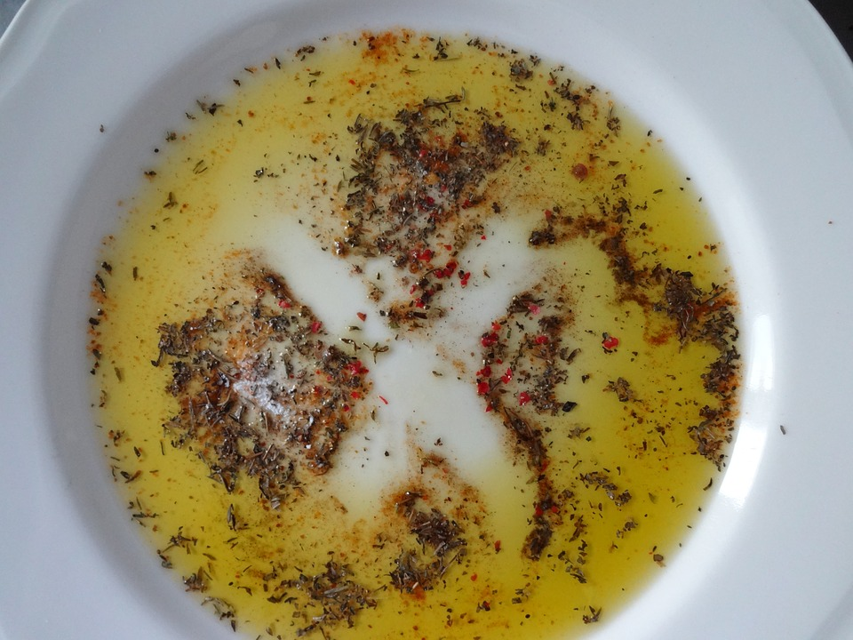 Plate, Olive Oil, Herbs