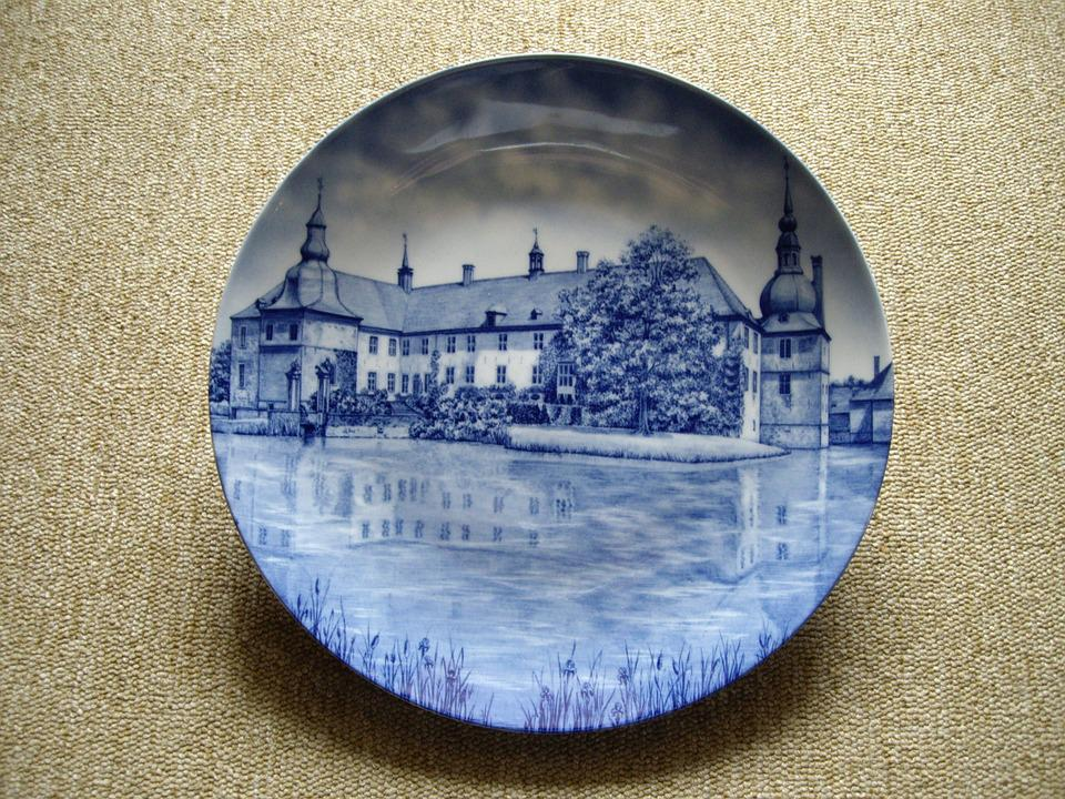 Plate, Decorative Plate, Porcelain, Blue