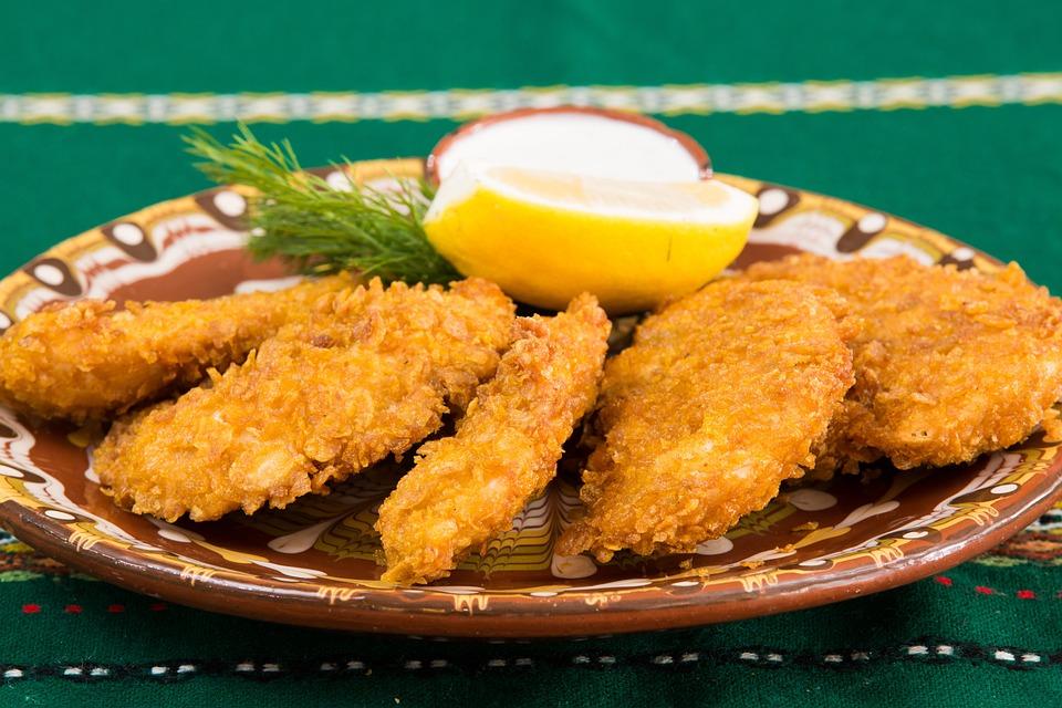 Food, Restaurant, Fried Chicken, Plate, Restaurant Food