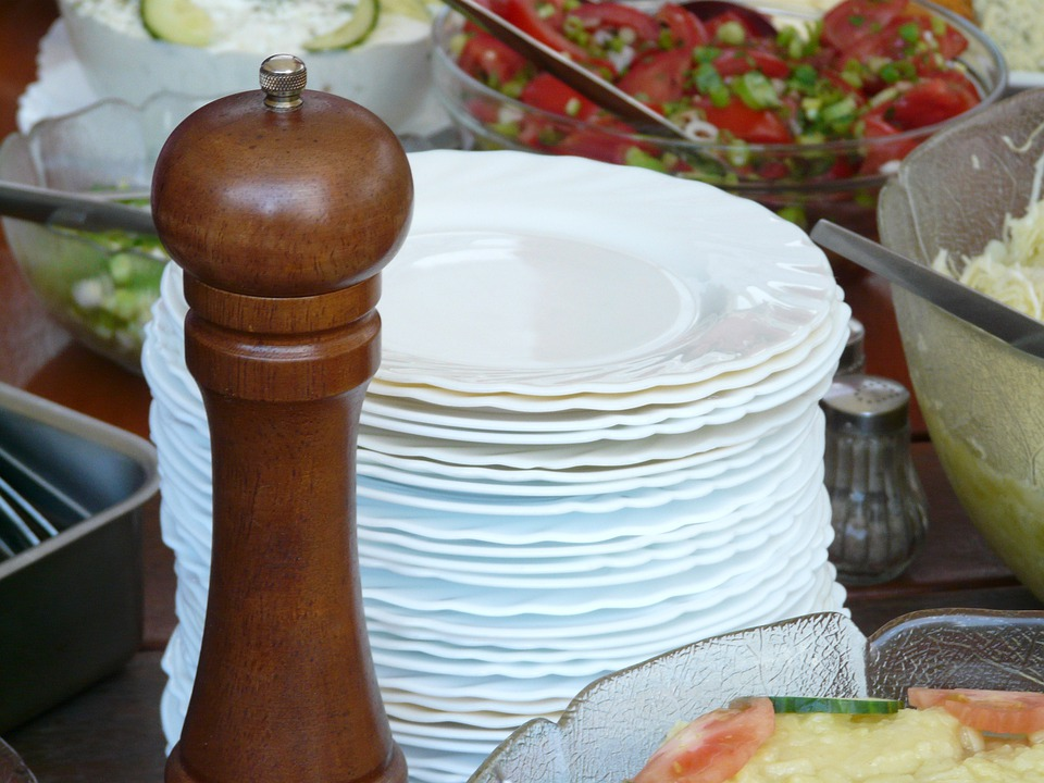 Pepper Mill, Mill, Grind, Tableware, Plate