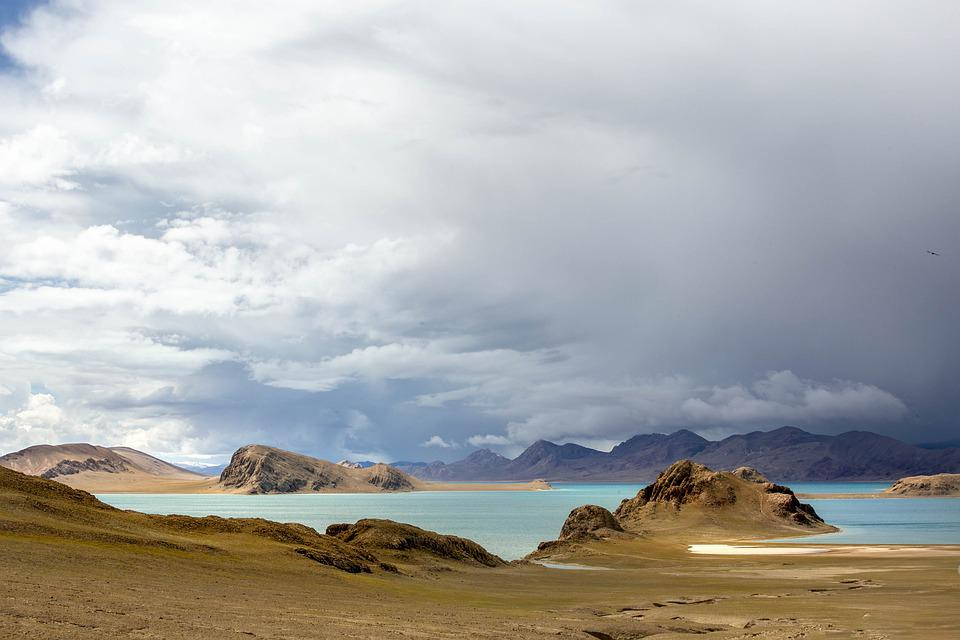 Plateau, Lake, Cloud
