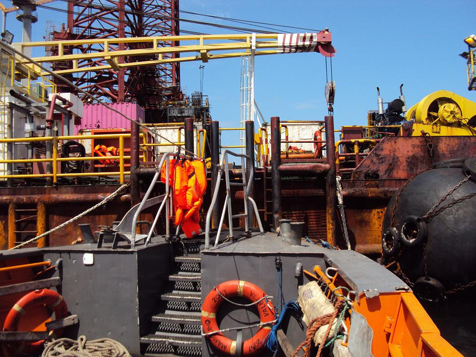 Drilling, Platform, Africa, Gabon, Travel