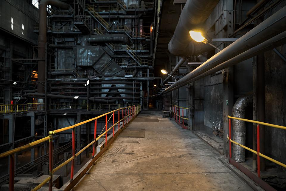 Power Station, Factory, The Industry, Platform, Machine