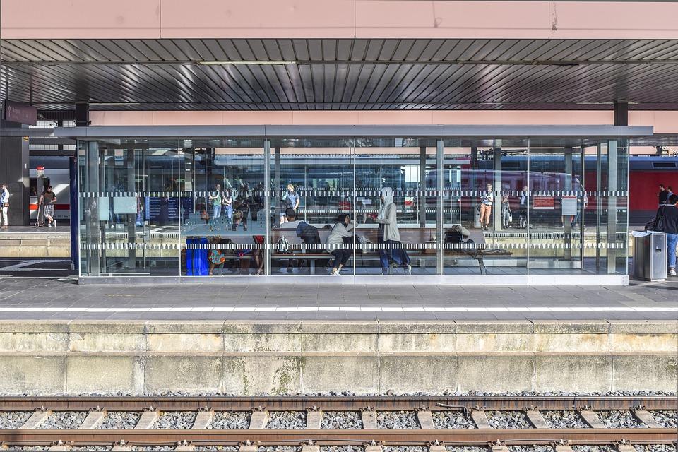 Architecture, Railway Station, Platform, Stop