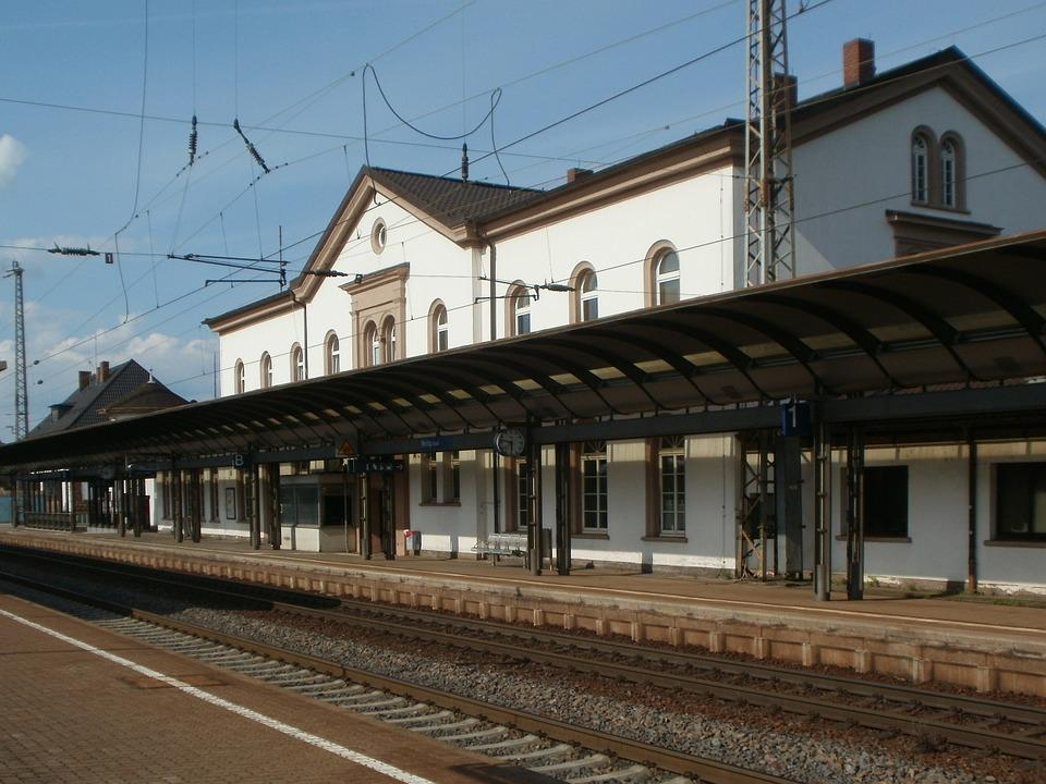 Merzig, Train Station, Platform, Track, Station