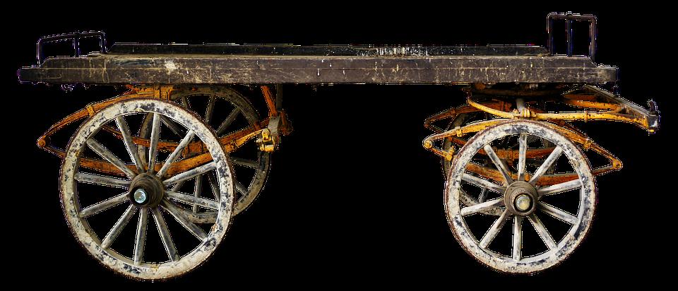 Cart, Transport Carts, Old, Post, Platform, Dare