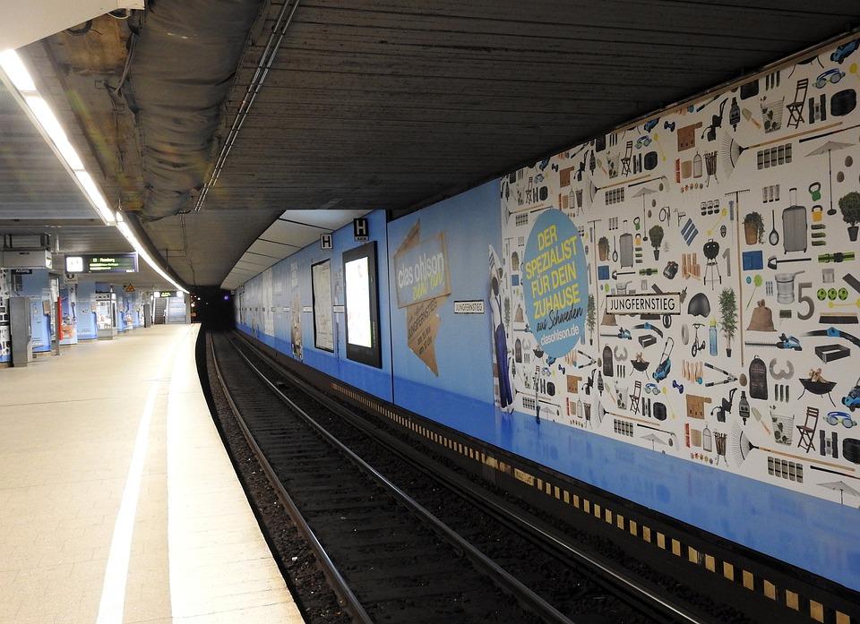 Metro, Stop, Seemed, Underground, Platform, Gleise