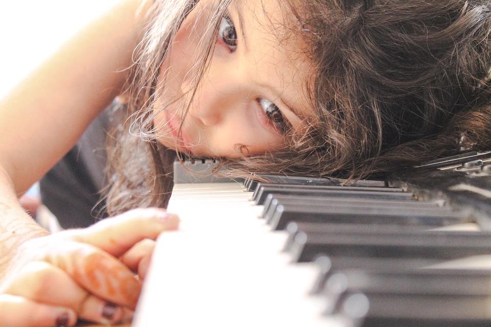 Piano, Music, Girl, Play, Tutorial, White, Finger, Arm
