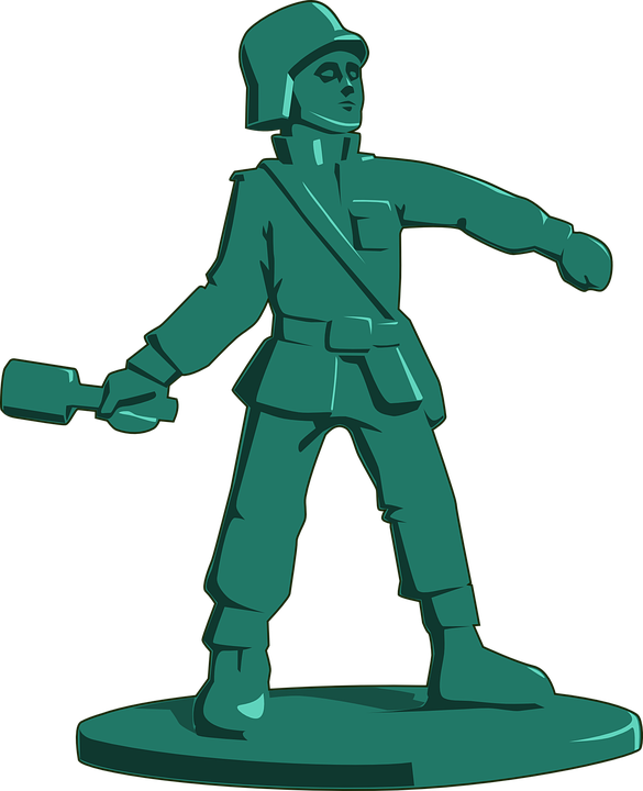 Toy Soldier, Army, Grenade, Military, Plastic, Play