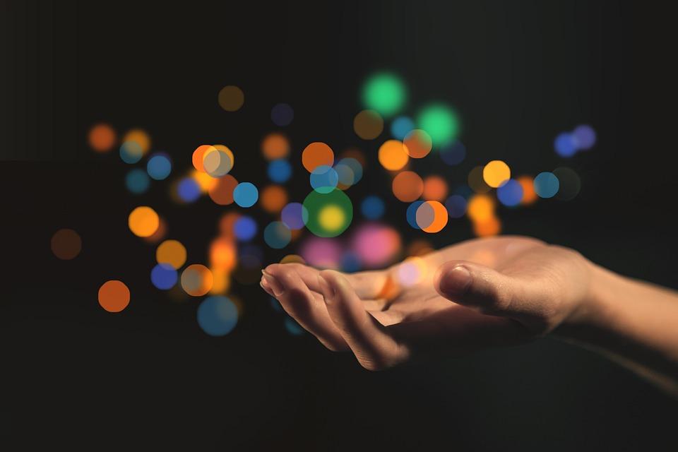 Hand, Bokeh, Give, Gift, Offer, Open, Light, Play