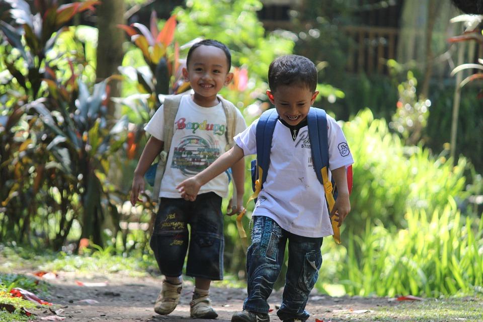 Child, Play, Running, Toys, Joy, Indonesian, Nature