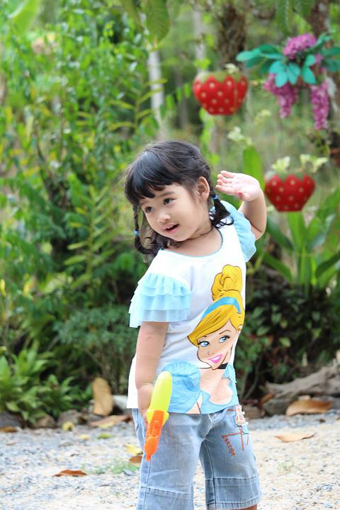 Girl, Game, Play, Watergun, Pretty Girl, Child