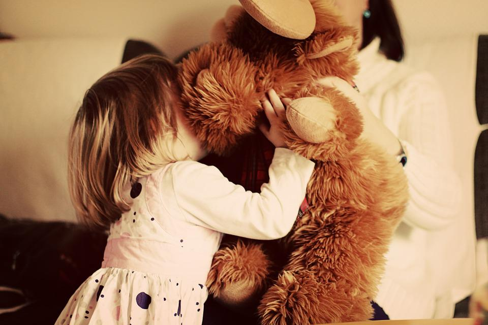Child, Small Child, Snuggle, Play, Teddy, Teddy Bear