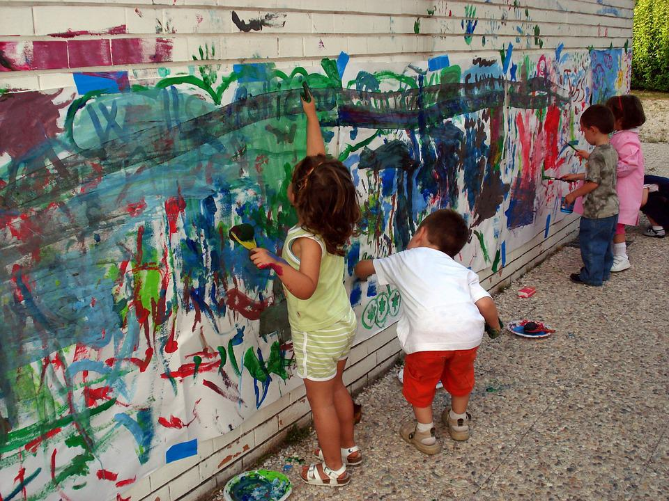 Painting, Hands, Murals, Colors, Play, Game, Children