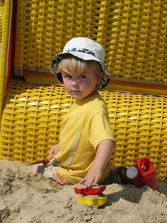Child, Play, Sand, Beach, Digging, Sandalwood