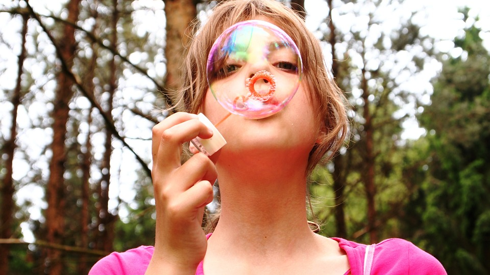 free photo play fir tree blow bubbles face forest girl happy max pixel