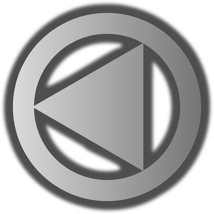 Play, Grey, Icon, Triangle