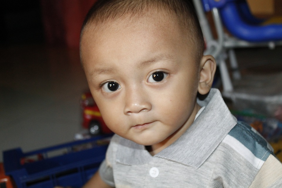 Eye, Face, Child, Indonesian, Play, Joy, Man, Boy