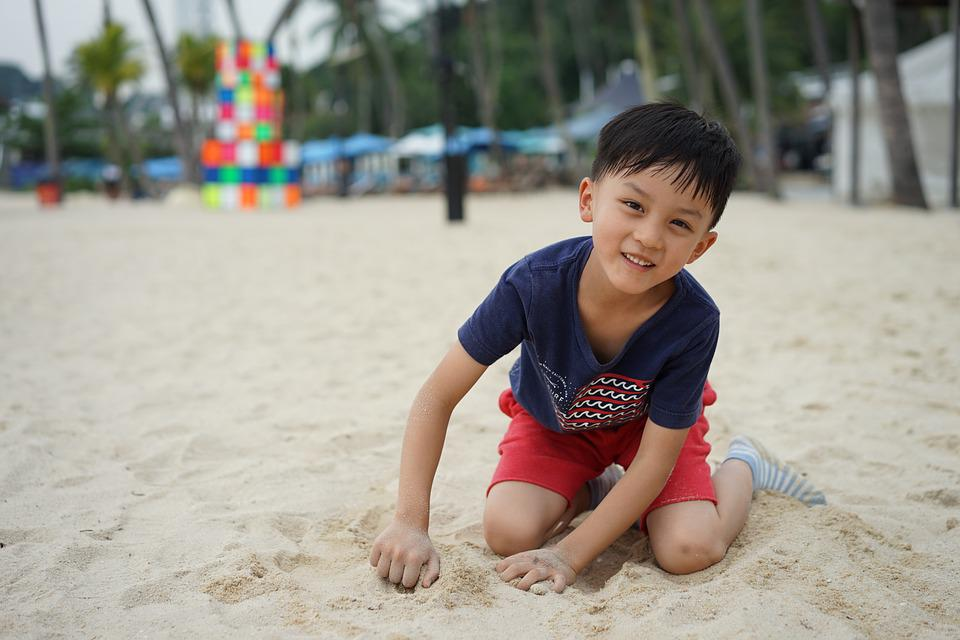 Child, Sha, Beach, Pleasure, Summer, Play Sand, Boy
