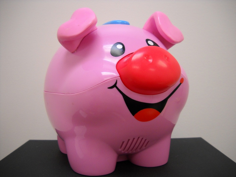 Pink, Pig, Toy, Smiling, Child, Children, Play, Fun