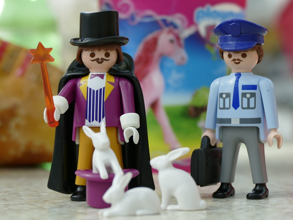 Playmobil, Figures, Males, Toys, Cop, Play, Magician