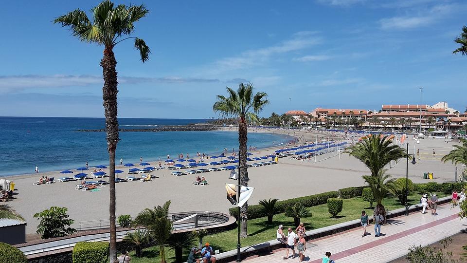 Playa De Las Vistas, Tenerife, Playa, Beach, Sun, Sea
