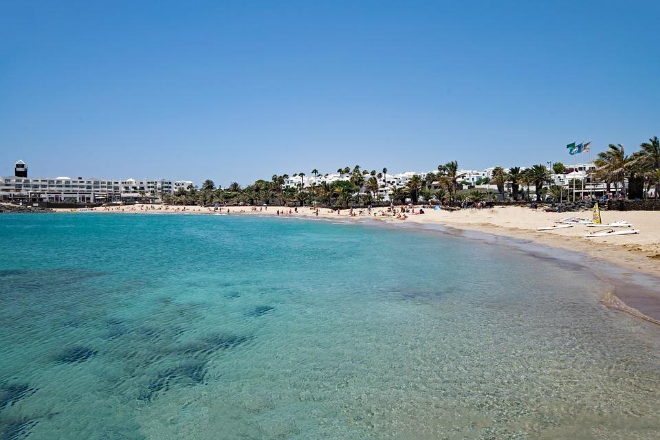 Playa De Las Cucharas, Lanzarote, Canary Islands, Spain