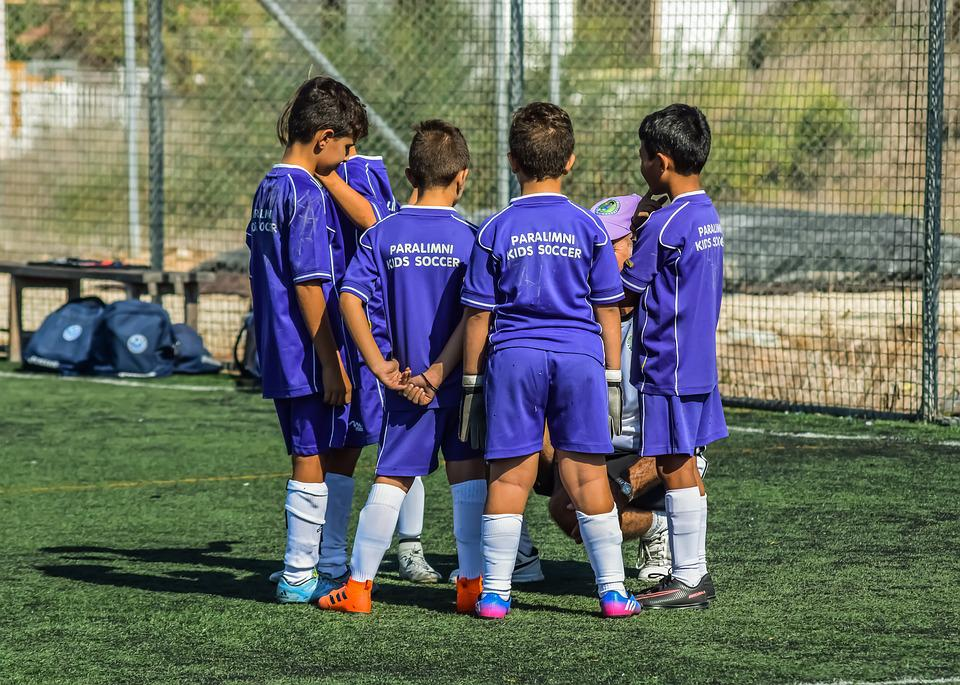 Football, Kids, Boys, Team, Time Out, Soccer, Players