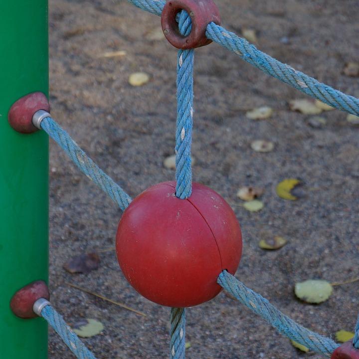 Playground, For Children, Climbing Frame, Ball, Rope