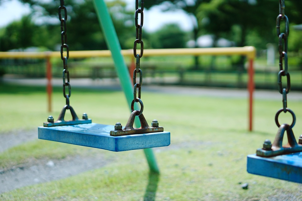 Park, Blanco, Playground Equipment, Stool From This