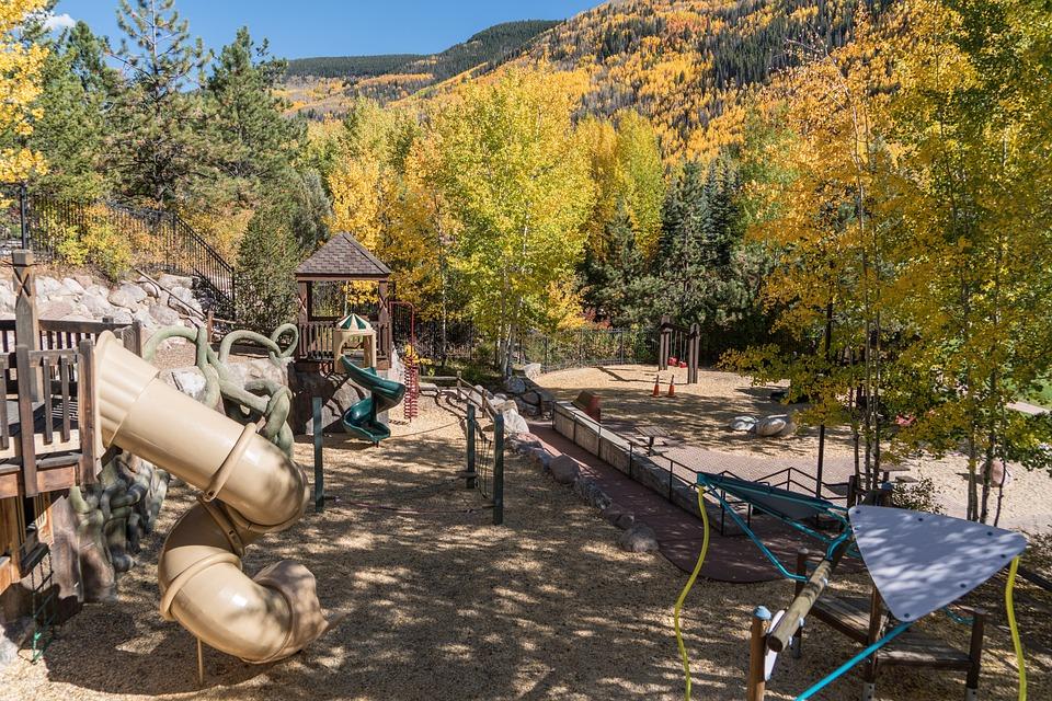 Vail, Colorado, Betty Ford Park, Playground, Foliage