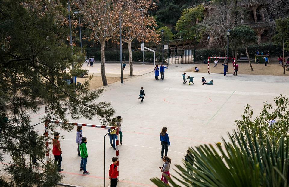 Playground, School, Children Playing, People, Happy