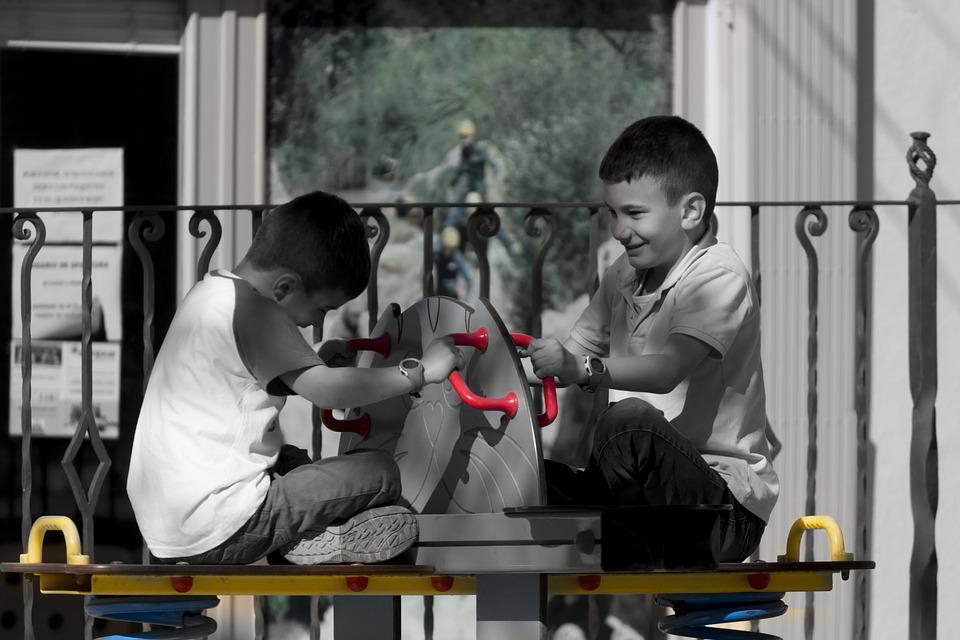 Children, Park, Games, Playground, Happy, Smiles, Play