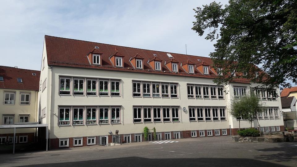 School, The School Building, Playground