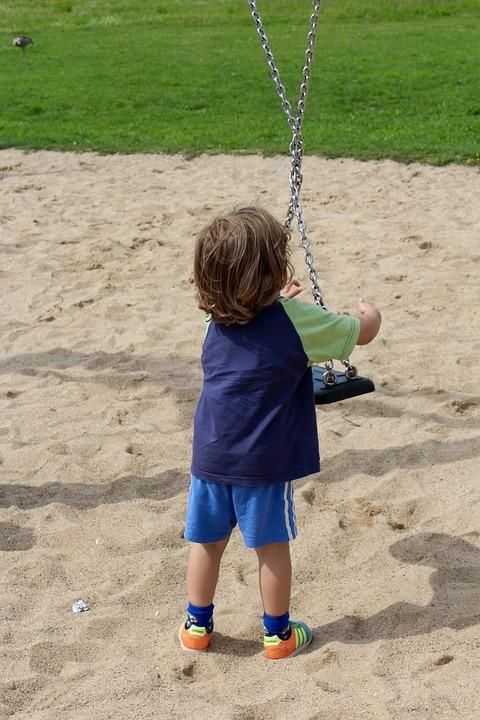 Child, Swing, Turn, Play, Playground