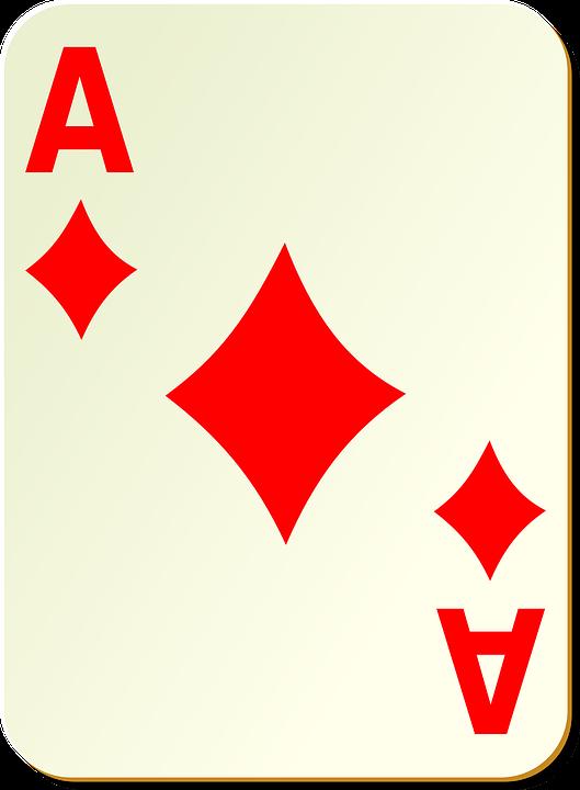 Diamonds, Ace, Playing Cards, Poker, Casino, Luck, Card