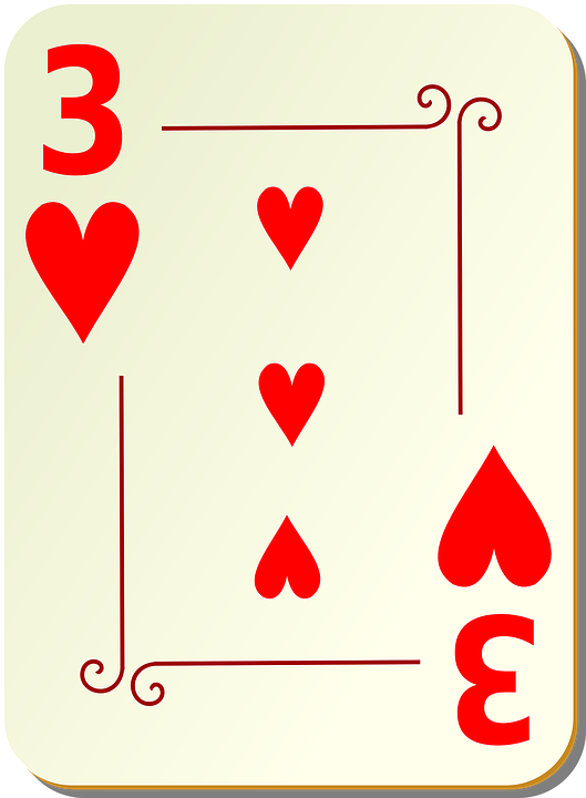 Three, Hearts, Playing Cards, Card, Games, Cards, Game